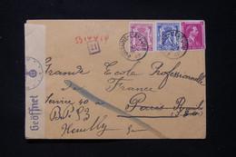 BELGIQUE - Enveloppe De Fontaine L 'Eveque Pour La France En 1942 Avec Contrôle Postal  - L 90676 - Cartas
