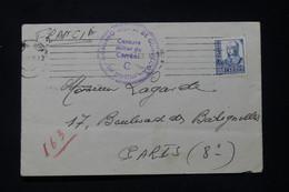 ESPAGNE - Enveloppe Pour Paris Avec Cachet De Censure Militaire De San Sebastian - L 90677 - 1931-50 Briefe U. Dokumente