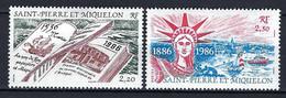 ⭐ Saint Pierre Et Miquelon - YT N° 470 Et 471 * - Neuf Avec Charnière - 1986 ⭐ - Neufs