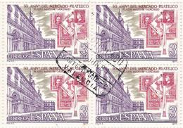 España 1977 40 Sellos Matasellados 50 Aniversario Del Mercado Filatélico De La Plaza Mayor De Madrid - 1971-80 Usados