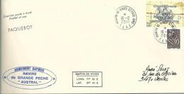 YT 4250 - Bateau Grande Hermine - Posté à Bord De L'Austral - Martin De Viviès - St Paul Amsterdam - 16/12/2011 - Lettres & Documents