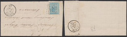 émission 1865 - N°18 Sur LAC Obl Pt 271 çàd Ninove (1868) > Namur - 1865-1866 Profil Gauche