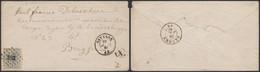 """émission 1865 - N°17 Sur Env. Obl Pt 283 çàd Ostende (1867) + Boite Rurale """"X"""" > Brugge - 1865-1866 Profil Gauche"""