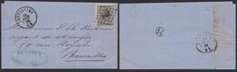 émission 1865 - N°17 (nuance !) Sur LAC Obl Pt 284 çàd Ottignies (Manusc. Noirhat) > Bruxelles - 1865-1866 Profil Gauche