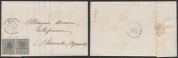 N°17 En Paire Sur LAC Obl Pt 293 çàd Poix (1866, Exposition Universelle De Londres, Scierie Mécanique) > Chanxhe - 1865-1866 Profil Gauche