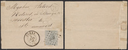 """émission 1865 - N°17 Sur LSC Obl Pt 300 çàd Puers (1867) + Boite Rurale """"W"""" > St-Amands - 1865-1866 Profile Left"""