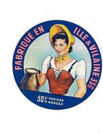 ETIQU FROMAGE Fabriqué En ILLE & VILAINE 35 G 8 Cm - Formaggio