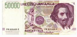 Italia - 50.000 Lire 1992 Bernini II - 50000 Liras