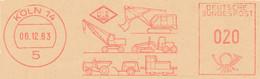 Freistempel Kleiner Ausschnitt 541 Bagger Kranwagen Diverse Anhänger - Marcofilia - EMA ( Maquina De Huellas A Franquear)