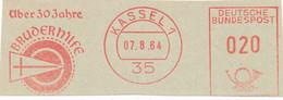 Freistempel Kleiner Ausschnitt 542 30 Jahr Bruderhilfe - Marcofilia - EMA ( Maquina De Huellas A Franquear)