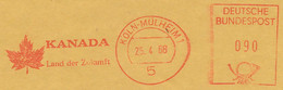 Freistempel Kleiner Ausschnitt 544 Kanada Ahornblatt - Marcofilia - EMA ( Maquina De Huellas A Franquear)