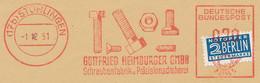 Freistempel Kleiner Ausschnitt 547 Schrauben Muttern - Marcofilia - EMA ( Maquina De Huellas A Franquear)