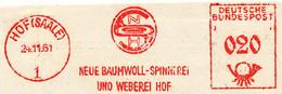 Freistempel Kleiner Ausschnitt 549 Spindel Baumwollspinnerei - Marcofilia - EMA ( Maquina De Huellas A Franquear)