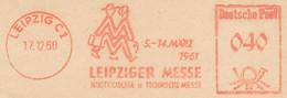 Freistempel Kleiner Ausschnitt 550 Leipzig Messe 1961 - Marcofilia - EMA ( Maquina De Huellas A Franquear)
