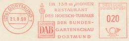 Freistempel Kleiner Ausschnitt 551 DAB Brauerei Gartenschau Hoesch Turm - Marcofilia - EMA ( Maquina De Huellas A Franquear)