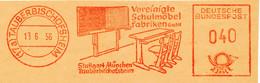 Freistempel Kleiner Ausschnitt 552 Schule Möbel Tafel - Marcofilia - EMA ( Maquina De Huellas A Franquear)