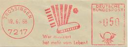Freistempel Kleiner Ausschnitt 555 Mundharmonika Akkordeon Musik Hohner - Marcofilia - EMA ( Maquina De Huellas A Franquear)