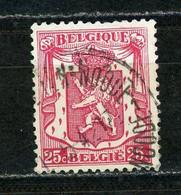 BELGIQUE  ARMOIRIE N° Yvert 423 Obli - 1935-1949 Petit Sceau De L'Etat