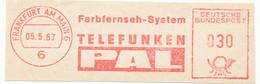 Freistempel Kleiner Ausschnitt 561 Farbfernsehen PAL Telefunken - Marcofilia - EMA ( Maquina De Huellas A Franquear)