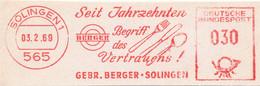 Freistempel Kleiner Ausschnitt 563 Besteck Messer Gabel Löffel - Marcofilia - EMA ( Maquina De Huellas A Franquear)