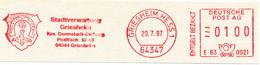 Freistempel Kleiner Ausschnitt 565 Wappen Hufeisen - Marcofilia - EMA ( Maquina De Huellas A Franquear)
