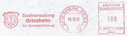 Freistempel Kleiner Ausschnitt 567 Wappen Hufeisen - Marcofilia - EMA ( Maquina De Huellas A Franquear)