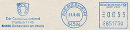 Freistempel Kleiner Ausschnitt 569 Wappen Hufeisen - Marcofilia - EMA ( Maquina De Huellas A Franquear)