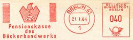 Freistempel Kleiner Ausschnitt 571 Pensionskasse Bäcker Breze Adler - Marcofilia - EMA ( Maquina De Huellas A Franquear)