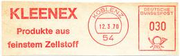 Freistempel Kleiner Ausschnitt 572 Koblenz Kleenex Zellstoff - Marcofilia - EMA ( Maquina De Huellas A Franquear)