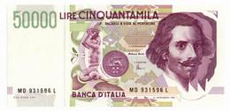 Italia - 50.000 Lire 1997 Bernini II - 50000 Liras