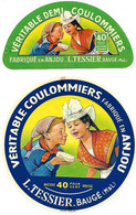 2 ETIQU Coulommiers L. TESSIER BAUGE 49 - Formaggio