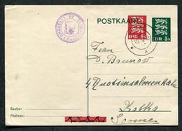 62257 ESTONIA Nõmme Cancel 1940 Card OVERPRINT Stamp Stationery To Finland CENSOR Mark - Estonia