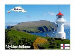 Faroe Islands Mykinesholmur Lighthouse New Postcard Färöer Leuchturm AK - Faroe Islands