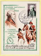 JEU151 COMTE De La VALETTE Directeur Des POSTES 1804-1815 Service Estafettes Empereur Journée Timbre 1954 Raoul SERRES - Poste & Postini