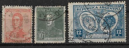 Argentinien 1917 - 1928 Lot   O/used - Ohne Zuordnung