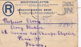 2 Scans Enveloppe Entier Postal Registered Letter Esperanza To Paris - Ohne Zuordnung