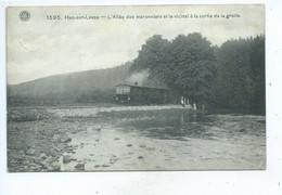 Han-sur-Lesse  L'Allée Des Maronniers Et Le Vicinal A La Sortie Des Grottes ( Tram ) - Rochefort