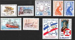 SPM 1987 Année Partielle 475/483 - Neufs