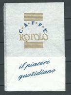 """Serviette Papier Paper Napkin Tovagliolino Caffè Bar ROTOLO Italy Bar Pasticceria Gelateria """"il Piacere Quotidiano"""" - Company Logo Napkins"""