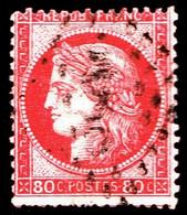 57a - 80c Carmin-rose Cérès - Oblitéré - Très Beau - 1871-1875 Cérès