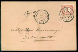 Nederland 1902 Briefkaart Van Uithuizen Naar Dedemsvaart Met Aankomststempel NVPH 50 - Covers & Documents