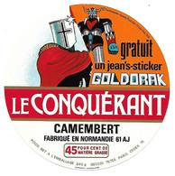 ETIQU. CAMEMB. 61 J LE CONQUERANT GOLDORAK - Formaggio