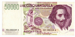 Italia - 50.000 Lire 1999 Bernini II - Serie Sostitutiva XD - 50000 Liras