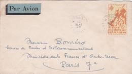 Enveloppe Par Avion Saint-Louis à Paris - Lettres & Documents