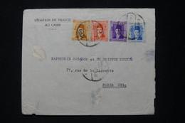 EGYPTE - Enveloppe De La Légation De France Du Caire Pour Paris En 1938 - L 90723 - Lettres & Documents