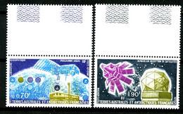 TAAF  PA 51 / 52 - Géophysique - Complet 2 Valeurs - Bords De Feuilles - Neufs N** - Très Beaux - Poste Aérienne