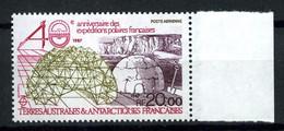TAAF  PA 102 - 20F  40° Anniv. Des Expéditions Polaires - Neuf N** - Bord De Feuille - Très Beau - Airmail