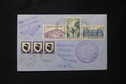 FRANCE - Enveloppe Avec Cachets Et Vignette Du Congrés Aéro Naval En 1946 De Annecy Pour Alger - L 90730 - Seepost