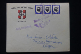 FRANCE - Enveloppe Avec Cachets Du Congrés Aéro Naval En 1946 De Annecy Pour Alger - L 90733 - Seepost