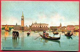 CPA Chromo Italie Veneto Venise San Marco, Mole, Piazzetta, Campanile, Palais Des Doges, Gondoles - Venezia (Venice)